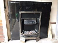 Electric Fireplace + Marble Frame