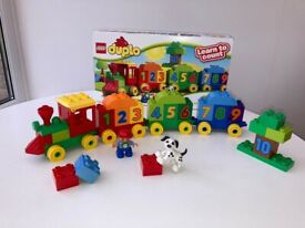 Duplo Lego Number Train, Boxed, As New.