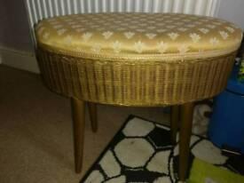 Genuine Lloyd Loom sewing basket / stool