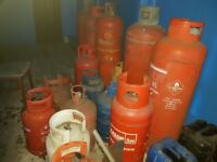 Selection of Empty Gas Bottles x 15