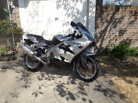 Kawasaki 636 Ninja 2002 only 19870 miles. New MOT on purchase