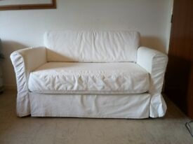 Sofa Bed. White Ikea Excellent Settee or as Double Bed