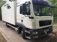 MAN truck tgl -8-180 ,7.5 ton with sleeper cab and sunroof only 1 owner full MAN service history