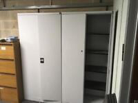 2 x metal locking cupboards