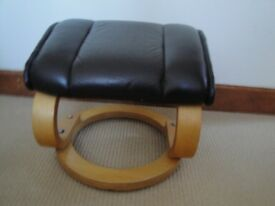 Brown leather look footstall