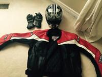 Helmets, Jackets and gloves
