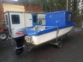 16 ft Dory style boat with 2007 50 mariner rnli