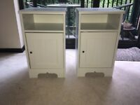White Bedroom Side Tables (2)