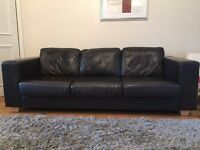Beautiful John Lewis Brown Leather Sofas - BARGAIN!