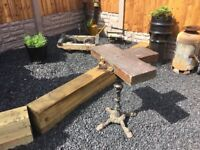 Vintage Cast Iron Table Base- delivery available