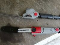 extendable hedge trimmers with chainsaw attachment hardly used