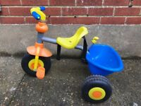 Three wheeler plastic trike for young children