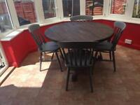 Table and 4 chairs refurbished