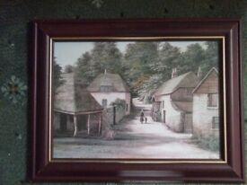 Cockington Village; Framed and glazed Print