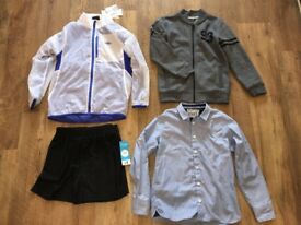 Boys Clothes Bundle - BNWT Umbro Coat, Shirt, Shorts, Baseball Jacket Age 8-9