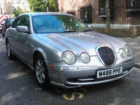 JAGUAR S TYPE 3.0 V6 AUTO 2000 W REG MET SILVER / TAN LEATHER PAS A/C 92K MILES SUPERB BARGAIN