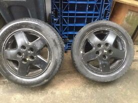 "Toyota mr2 mk2 15"" alloys with tyres"