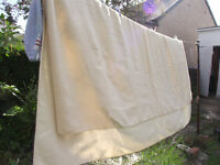 Cream 1940s pre wool blanket complete with Wool certifcation label. Very soft and warm
