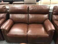 Leather 2 seater + 2 x Armchairs