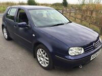 Volkswagen Golf SE 1598cc Petrol 5 speed manual 5 door hatchback X Reg 30/01/2001 Blue