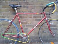 Red Vintage Single Speed. Multicolor bicycle