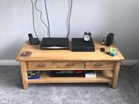 Solid wood media unit