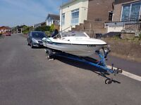 Bargain Priced 16 foot Boat with Engine and Trailer Handyman special