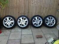 Renault megane alloys will fit vauxhall 17inch
