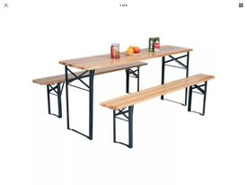 Amazing outdoor folding beer party/ picnic wooden table