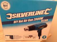 HOT AIR GUN 2000W. SILVERLINE. NEW.BARGAIN PRICE