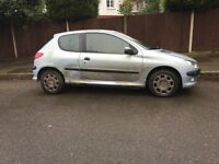 Peugeot 206 for sale, coming with Long MOT, ready to go drives well, cheap