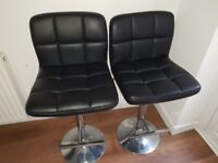 Breakfast/bar stools black and chrome. Immaculate condition.