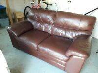 Leather 2 seater sofa very good condition