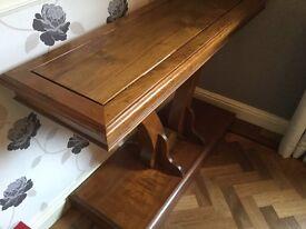 Wooden oak side board unusual design