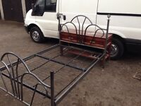Double bed base only devan style
