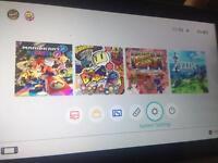 Nintendo Switch + 4 Cartridge Games + WARRANTY/Receipt best console bundle