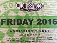 2 General admissions tickets for Goodwood Revival fri 9th Sept