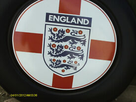 ENGLAND MOTIF SPAARE WHEEL OVER FOR REAR OF SHOGUN