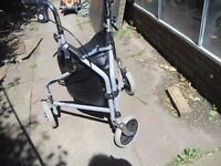MOBILITY WALKING AID IN GOOD CONDITION WITH STORAGE BAG