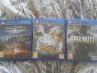 Call of duty,naruto etc..PS 4 games
