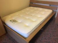 Wooden Double Bed & Durabed pocket sprung mattress
