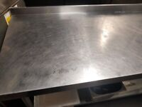 Vogue Stainless Steel Prep Table with Upstand 1800mm(2 available) - £80(price per table)