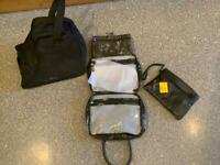BAG BUNDLE ALL BRAND NEW. Boot/shoe bag, wash bag and purse bag. ALL PERFECT & IMMACULATE THANKS