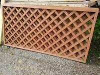 Garden fence panel trellis