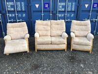 Bargain Genuine Italian Fabric Sofa V.G.C. Free Delivery In Norwich.