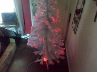 6 Foot Fibre Optic Christmas Tree in White