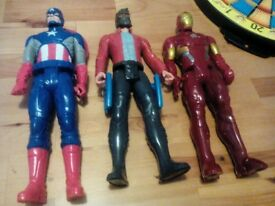 IRON MAN CAPTAIN AMERICA AND STAR LORD FIGURES AVENGERS