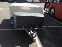 Raclet quick stop trailer tent