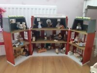 Sylvanian Families Grand Hotel with furniture, families and vehicles