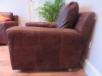 Great Habitat Leather Armchair (like Bo Concept, Heals, Calligaris, Roche Bobois)